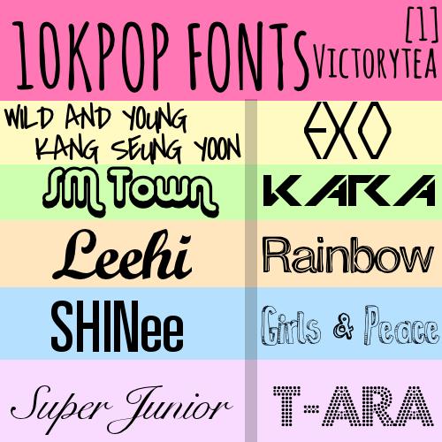 [DOWNLOAD] Kpop Fonts Pack 1 by Victorytea – back yard ...