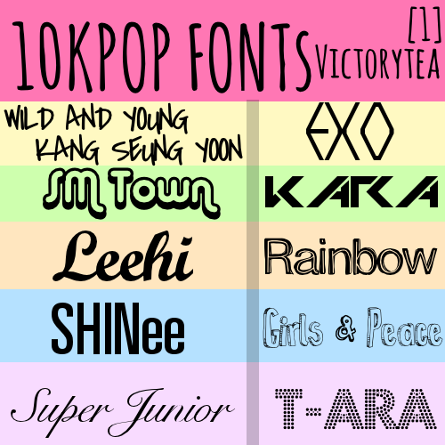 KPOP Fonts 1 Preview